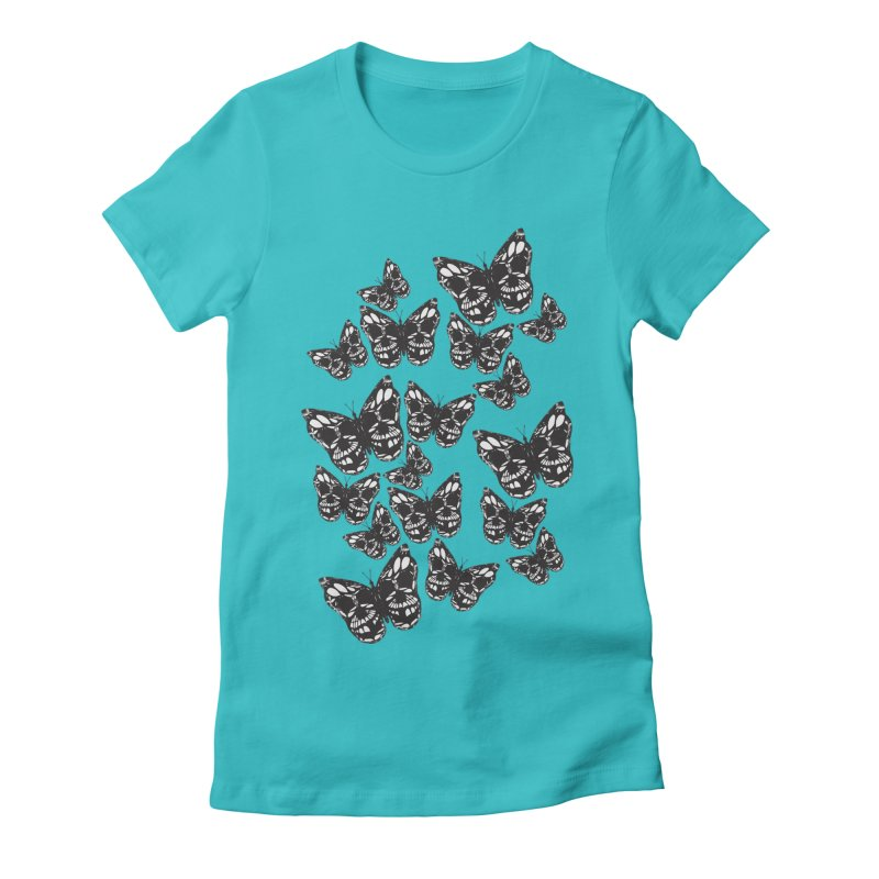 Butterflies of Death Women's Fitted T-Shirt by chevsy's Artist Shop