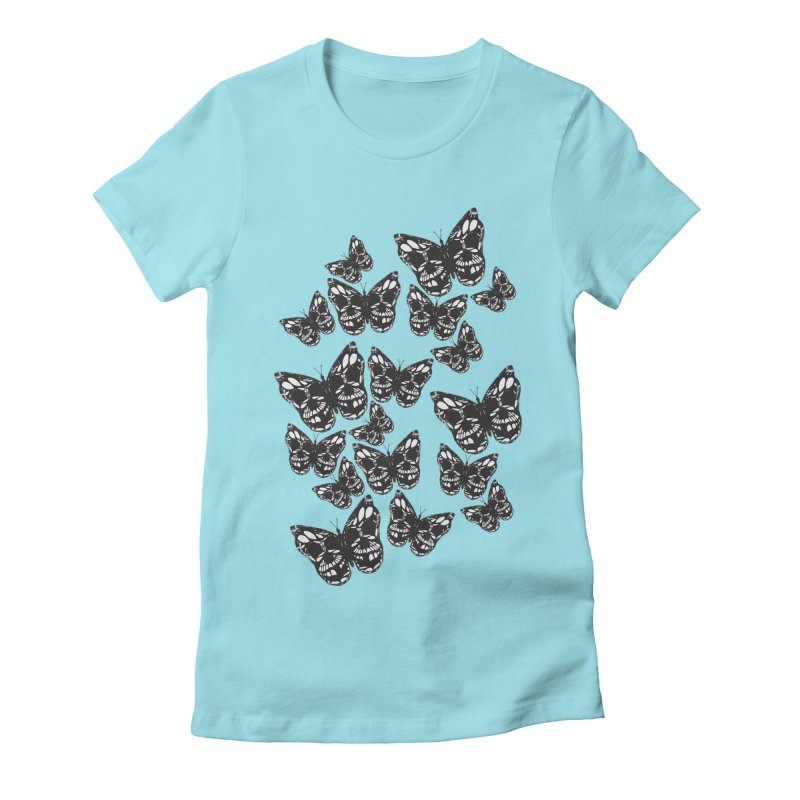 Butterflies of Death Women's Fitted T-Shirt by chevsy's Artist Shop