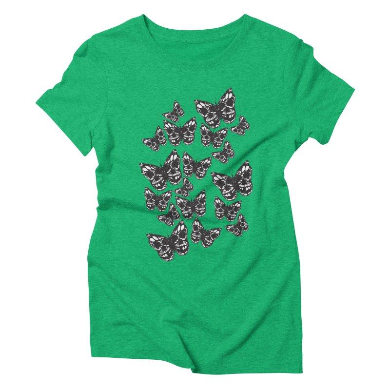 Butterflies of Death Women's Triblend T-Shirt by chevsy's Artist Shop
