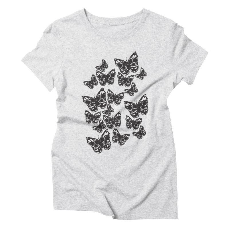 Butterflies of Death Women's T-Shirt by chevsy's Artist Shop