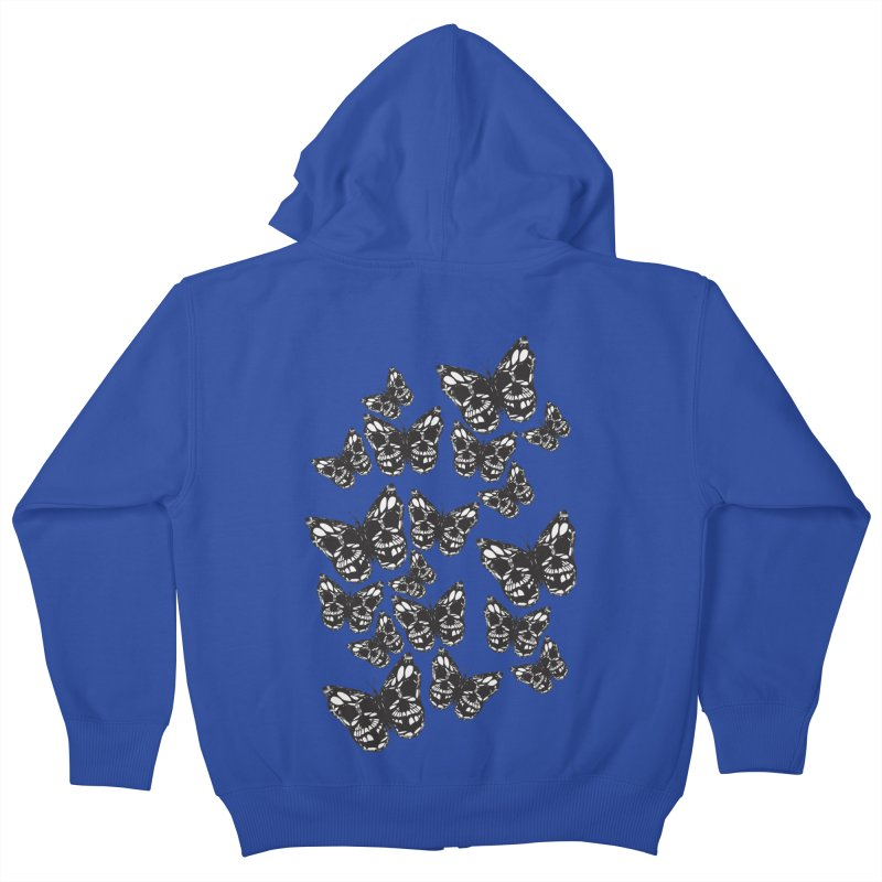 Butterflies of Death Kids Zip-Up Hoody by chevsy's Artist Shop