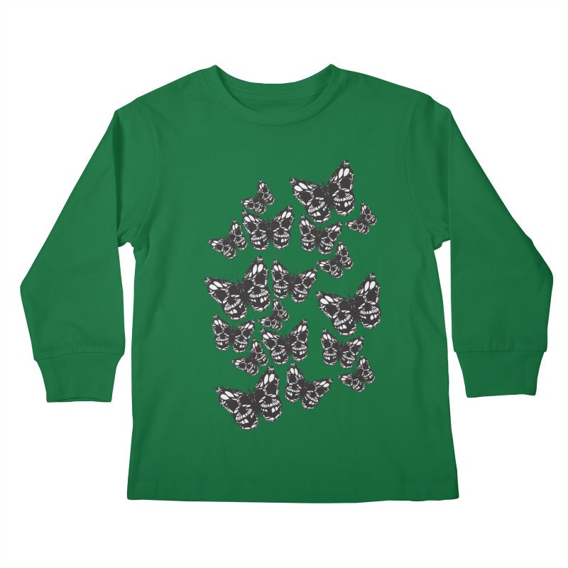 Butterflies of Death Kids Longsleeve T-Shirt by chevsy's Artist Shop