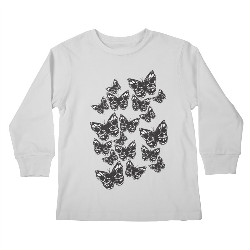 Butterflies of Death Kids Longsleeve T-Shirt by chevsy's Artist Shop