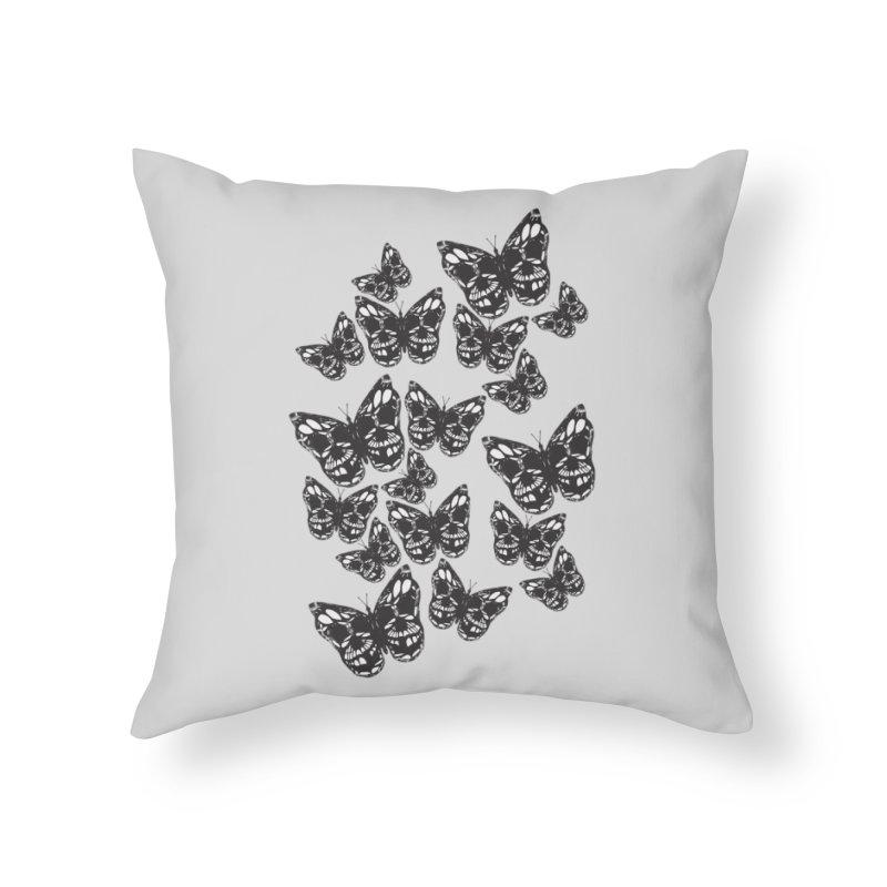 Butterflies of Death Home Throw Pillow by chevsy's Artist Shop