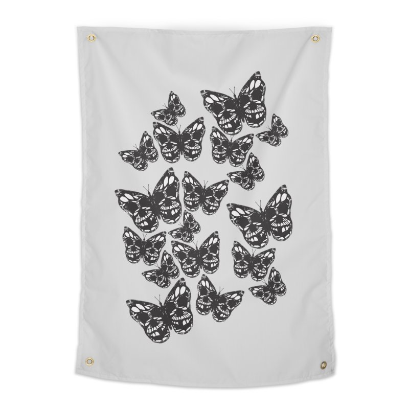 Butterflies of Death Home Tapestry by chevsy's Artist Shop