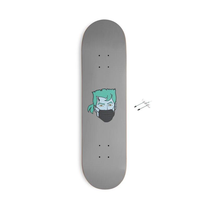 Captain Anti COVID-19 Accessories Skateboard by chevsy's Artist Shop