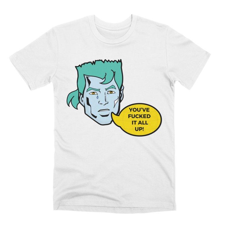 CAPTAIN PLANET IS NOT HAPPY Men's T-Shirt by chevsy's Artist Shop