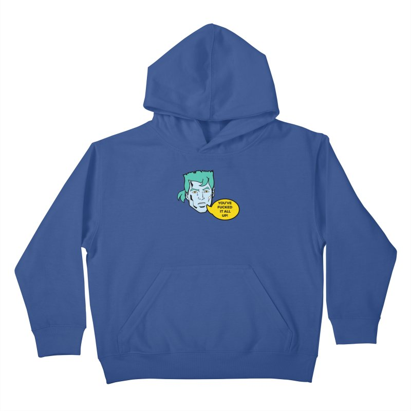 CAPTAIN PLANET IS NOT HAPPY Kids Pullover Hoody by chevsy's Artist Shop