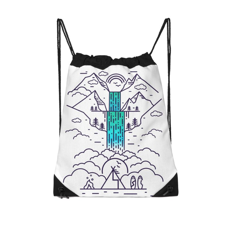Nature's Daydream Accessories Drawstring Bag Bag by chevsy's Artist Shop