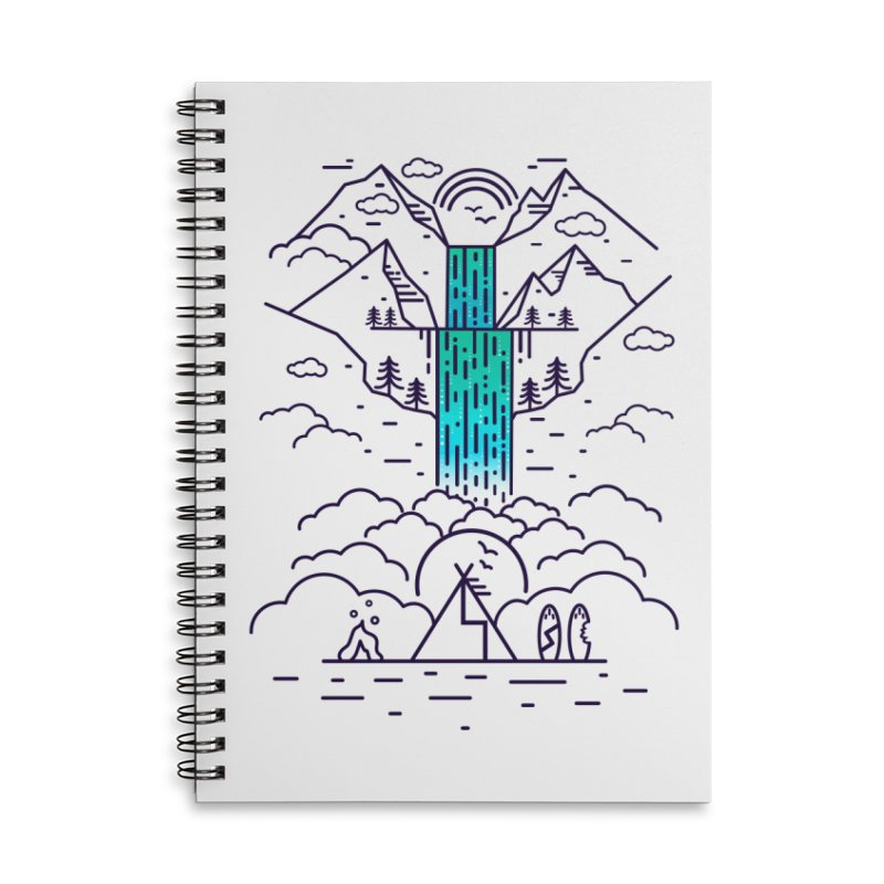 Nature's Daydream Accessories Lined Spiral Notebook by chevsy's Artist Shop