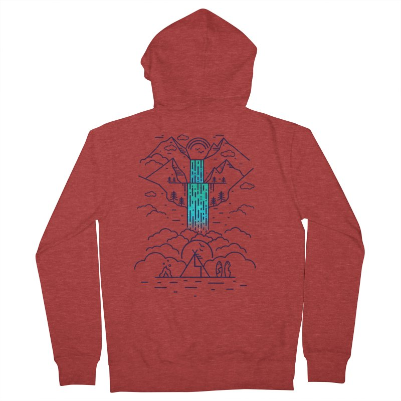 Nature's Daydream Women's French Terry Zip-Up Hoody by chevsy's Artist Shop