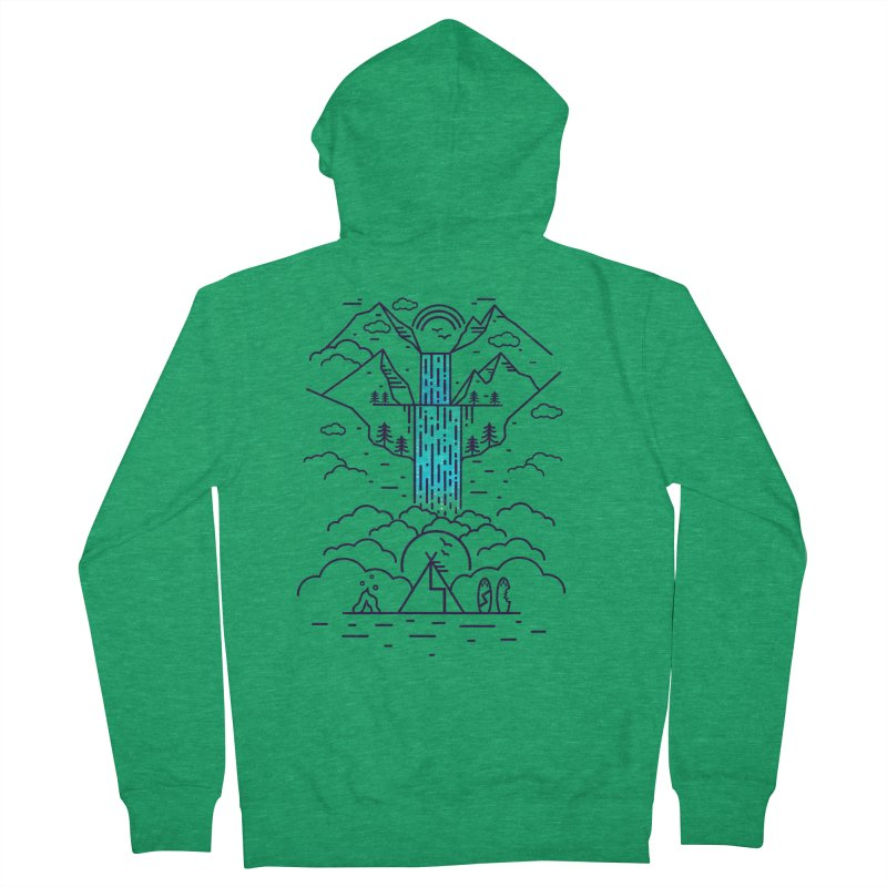 Nature's Daydream Men's French Terry Zip-Up Hoody by chevsy's Artist Shop