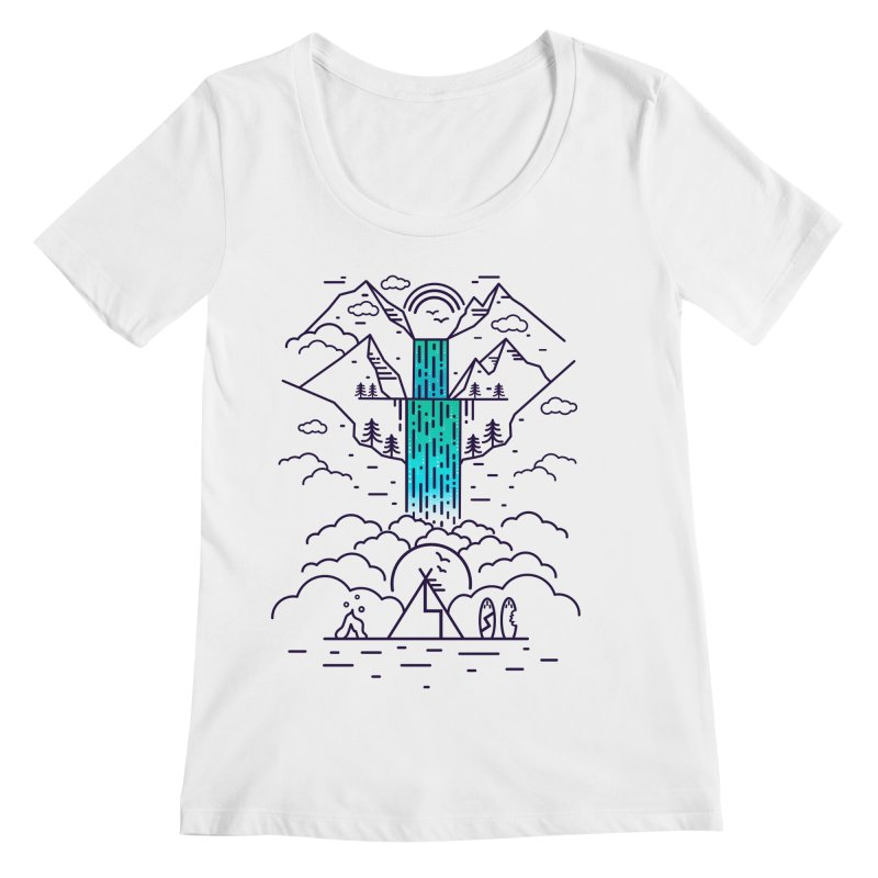 Nature's Daydream Women's Scoopneck by chevsy's Artist Shop