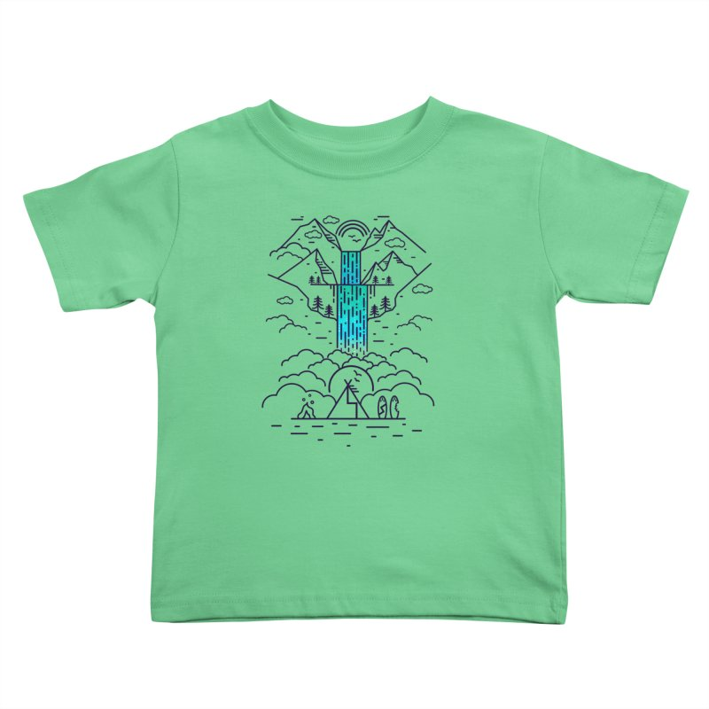 Nature's Daydream Kids Toddler T-Shirt by chevsy's Artist Shop