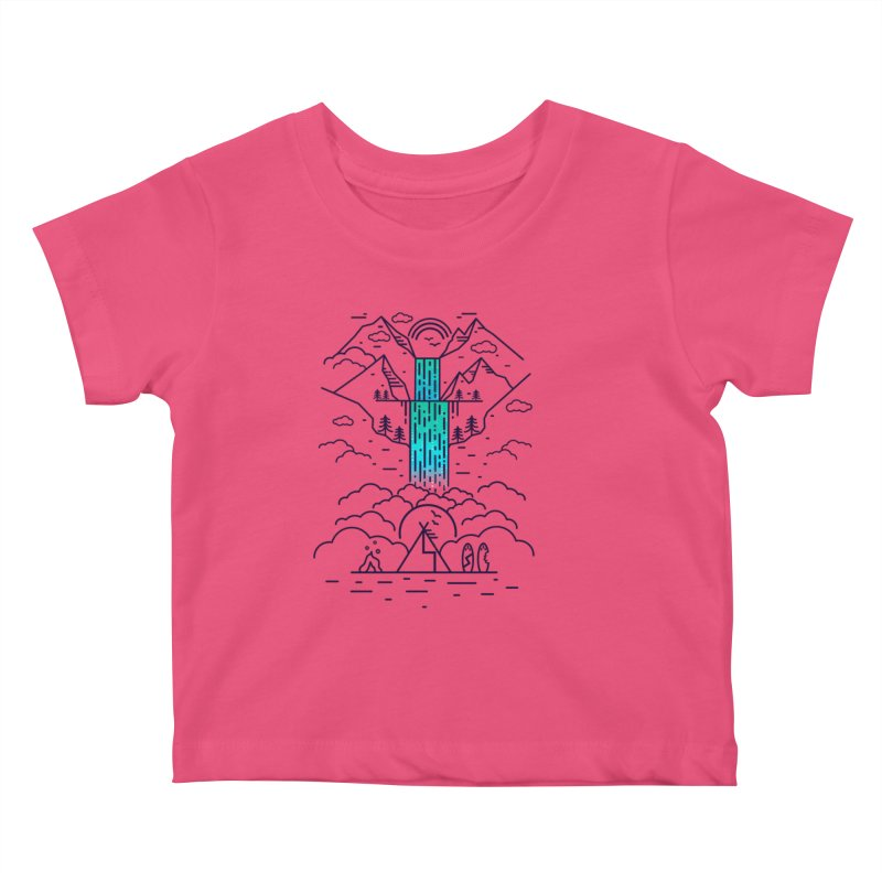 Nature's Daydream Kids Baby T-Shirt by chevsy's Artist Shop