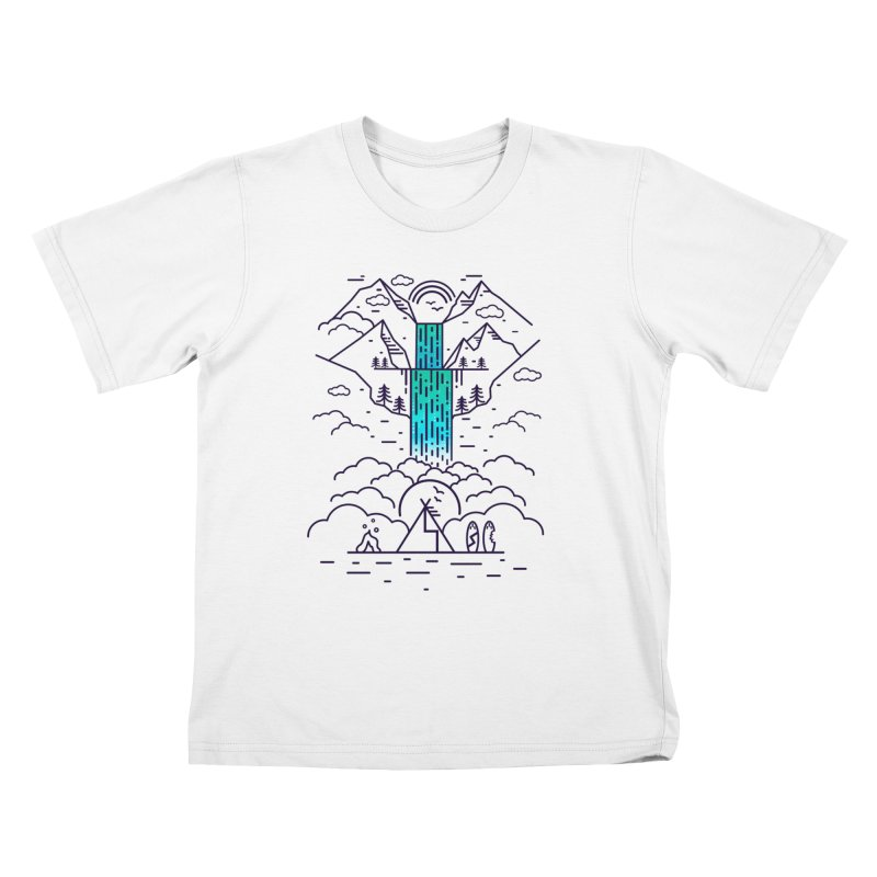 Nature's Daydream Kids T-Shirt by chevsy's Artist Shop