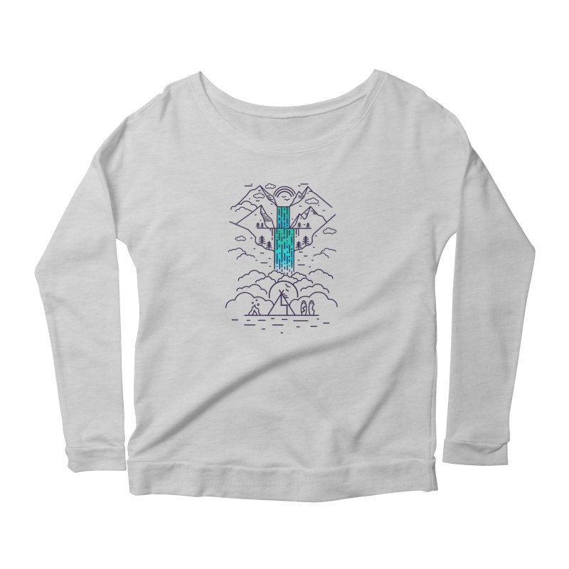 Nature's Daydream Women's Scoop Neck Longsleeve T-Shirt by chevsy's Artist Shop
