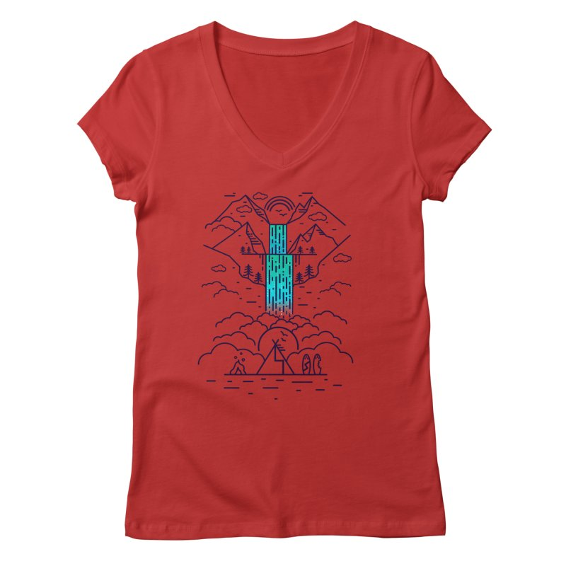 Nature's Daydream Women's Regular V-Neck by chevsy's Artist Shop
