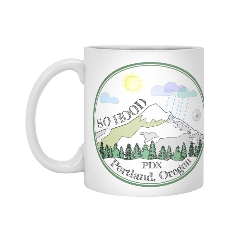 Mt. Hood [white background, works on all colors] Accessories Standard Mug by Northern Limit