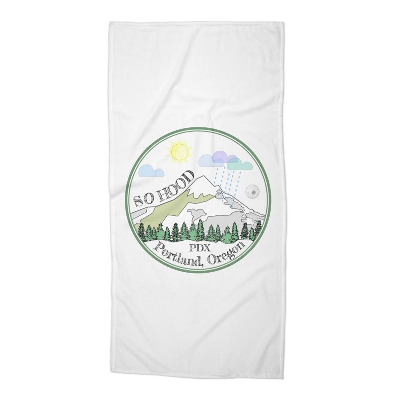 Mt. Hood [white background, works on all colors] Accessories Beach Towel by Northern Limit