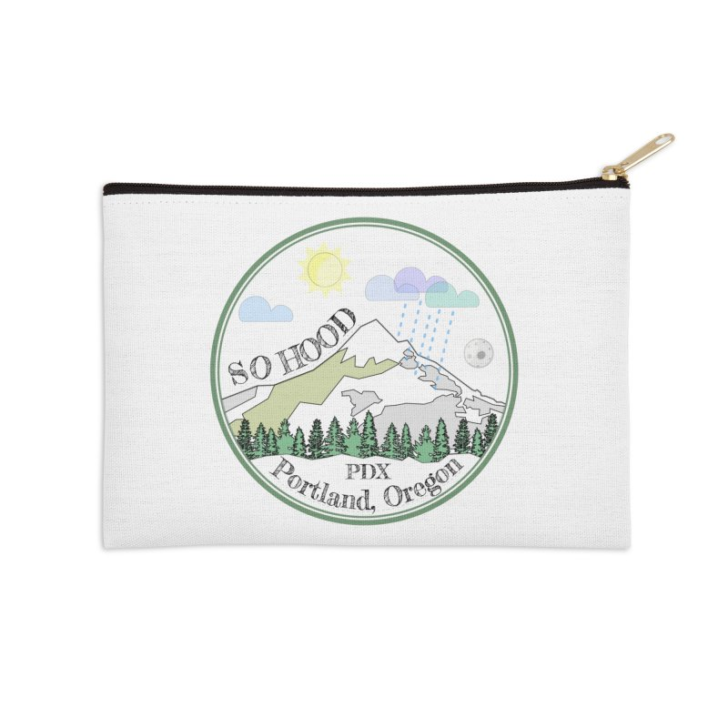 Mt. Hood [white background, works on all colors] Accessories Zip Pouch by Northern Limit