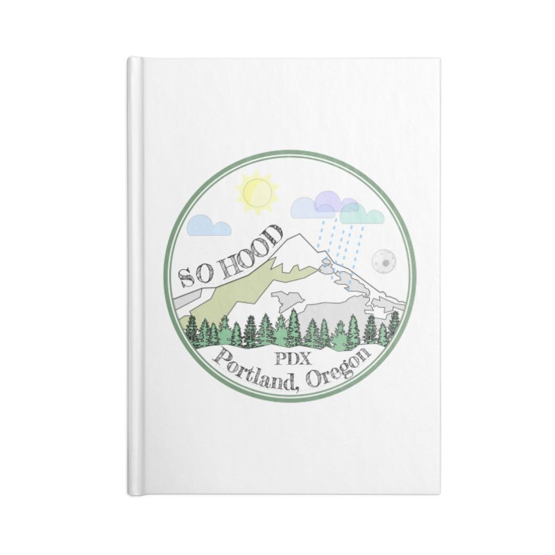 Mt. Hood [white background, works on all colors] Accessories Notebook by Northern Limit