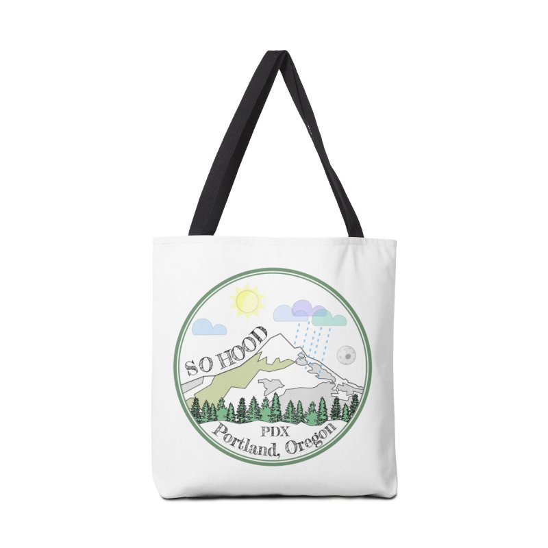 Mt. Hood [white background, works on all colors] Accessories Bag by Northern Limit