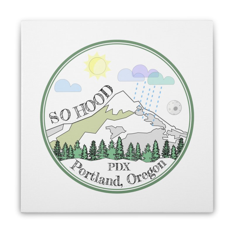 Mt. Hood [white background, works on all colors] Home Stretched Canvas by Northern Limit