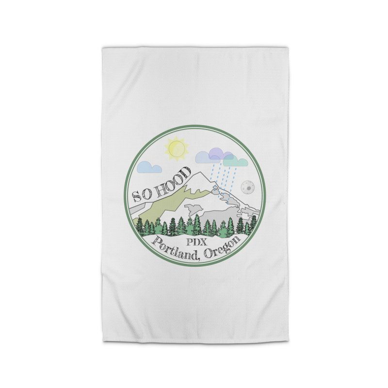 Mt. Hood [white background, works on all colors] Home Rug by Northern Limit