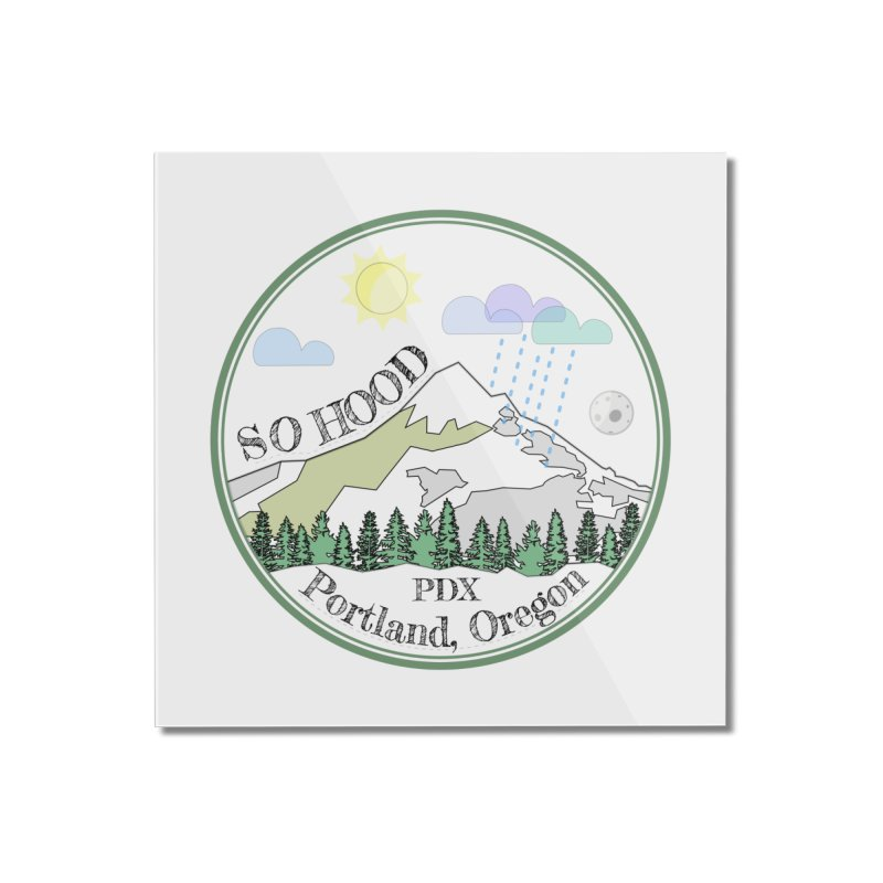 Mt. Hood [white background, works on all colors] Home Mounted Acrylic Print by Northern Limit