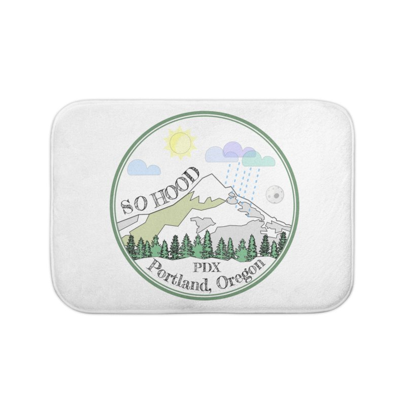 Mt. Hood [white background, works on all colors] Home Bath Mat by Northern Limit