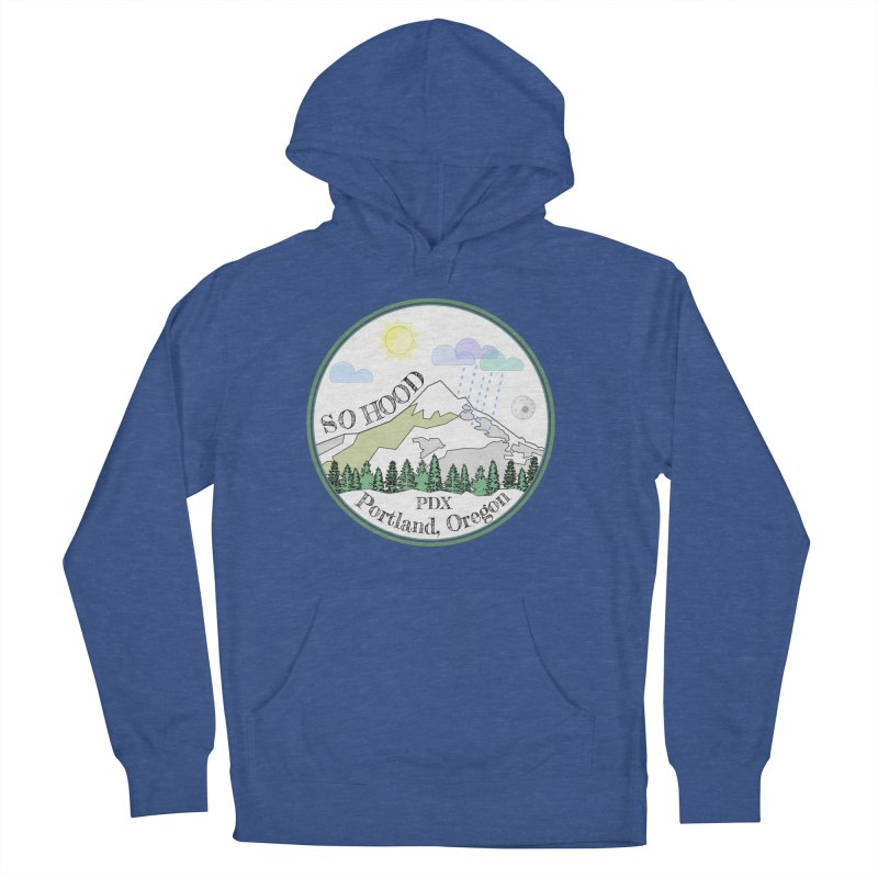 Mt. Hood [white background, works on all colors] Women's French Terry Pullover Hoody by Northern Limit