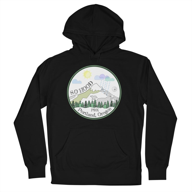 Mt. Hood [white background, works on all colors] Women's Pullover Hoody by Northern Limit