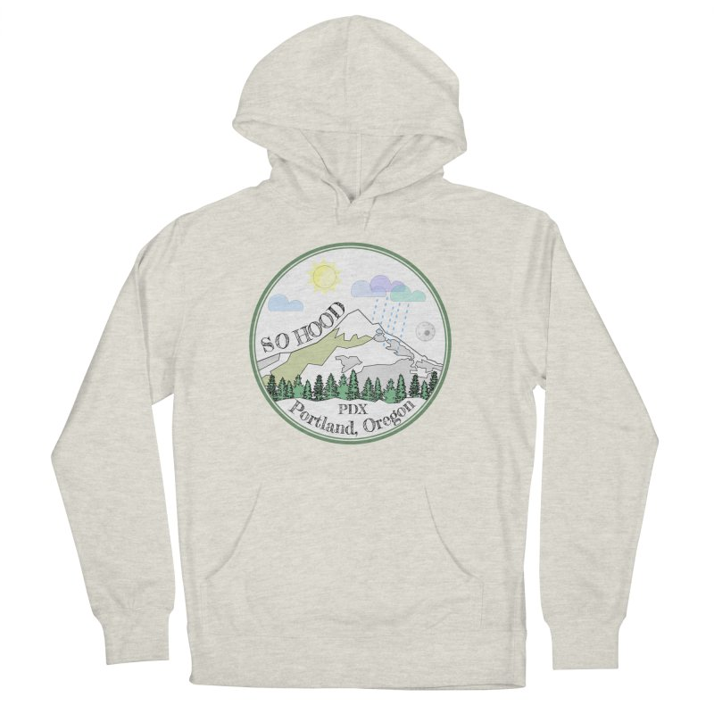 Mt. Hood [white background, works on all colors] Men's French Terry Pullover Hoody by Northern Limit