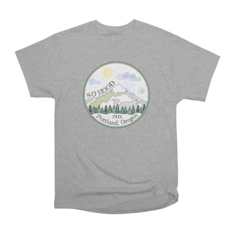 Mt. Hood [white background, works on all colors] Men's Heavyweight T-Shirt by Northern Limit
