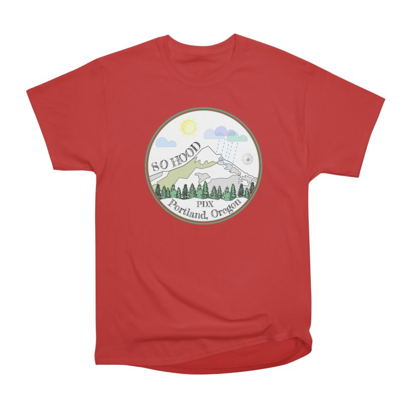Mt. Hood [white background, works on all colors] Women's Classic Unisex T-Shirt by Northern Limit