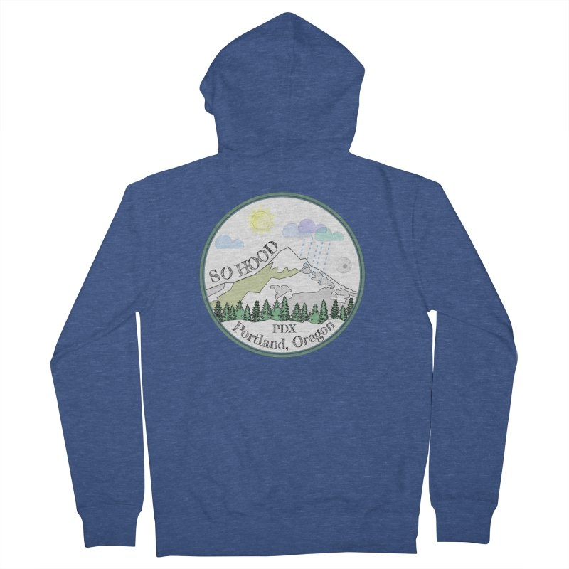 Mt. Hood [white background, works on all colors] Women's French Terry Zip-Up Hoody by Northern Limit
