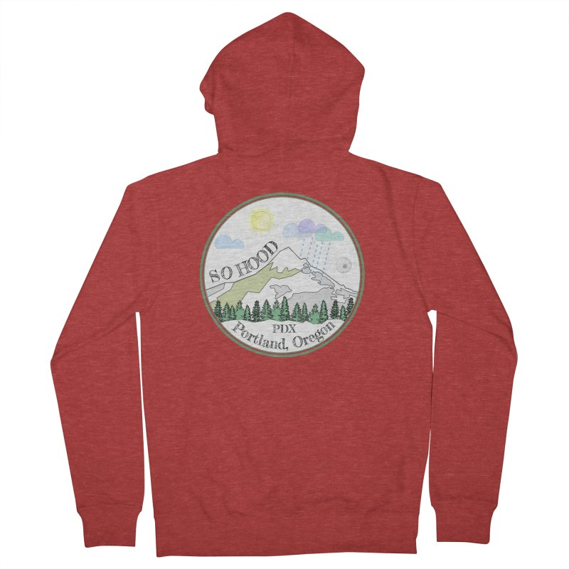 Mt. Hood [white background, works on all colors] Women's Zip-Up Hoody by Northern Limit