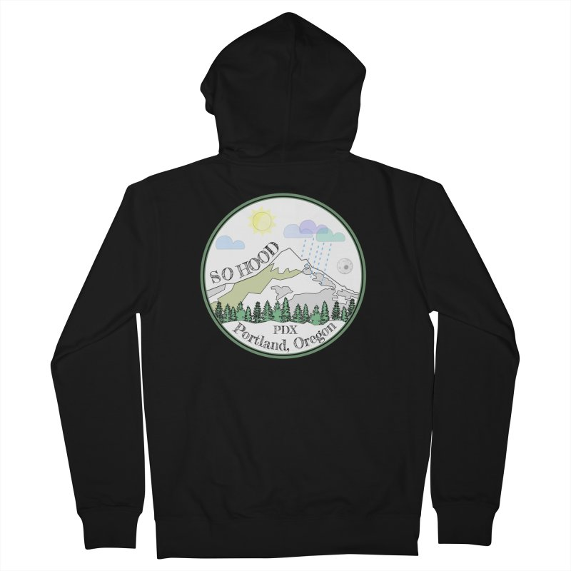 Mt. Hood [white background, works on all colors] Men's French Terry Zip-Up Hoody by Northern Limit