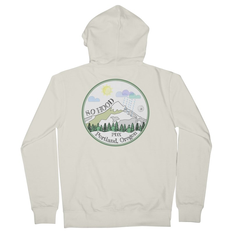 Mt. Hood [white background, works on all colors] Men's Zip-Up Hoody by Northern Limit