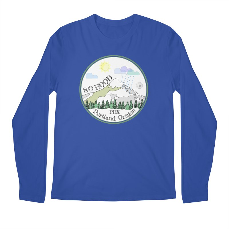 Mt. Hood [white background, works on all colors] Men's Regular Longsleeve T-Shirt by Northern Limit