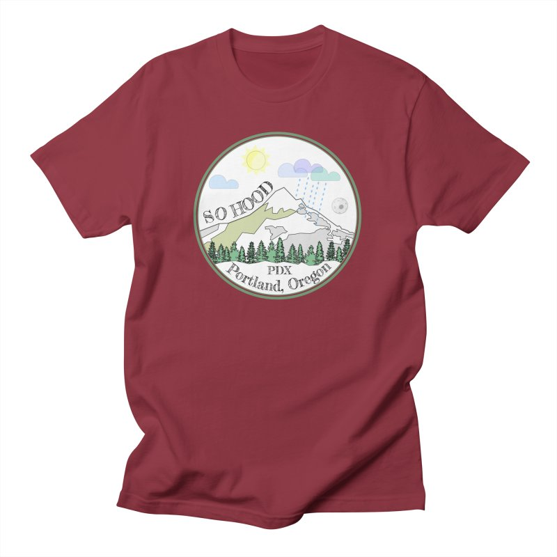 Mt. Hood [white background, works on all colors] Women's Regular Unisex T-Shirt by Northern Limit
