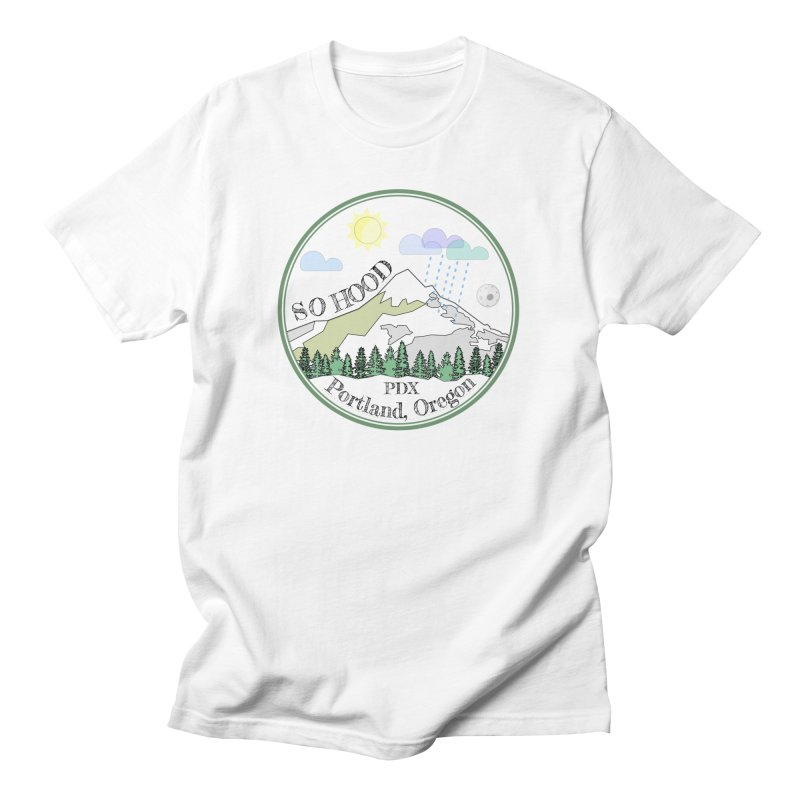 Mt. Hood [white background, works on all colors] Men's Regular T-Shirt by Northern Limit