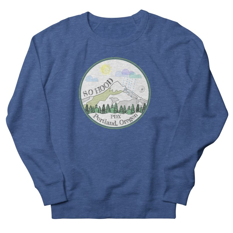 Mt. Hood [white background, works on all colors] Women's French Terry Sweatshirt by Northern Limit