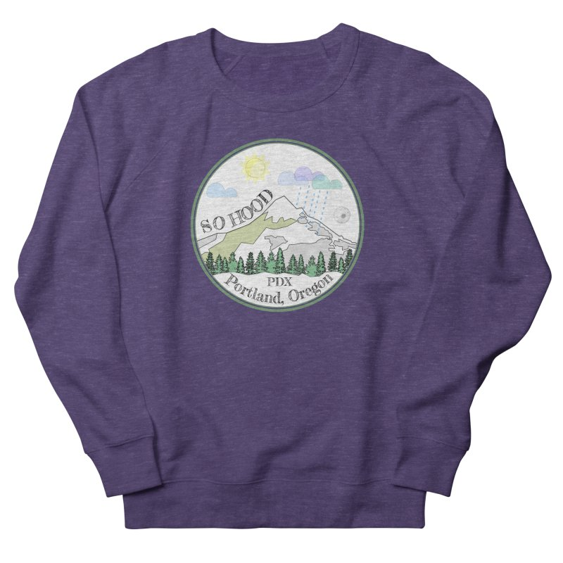 Mt. Hood [white background, works on all colors] Men's French Terry Sweatshirt by Northern Limit