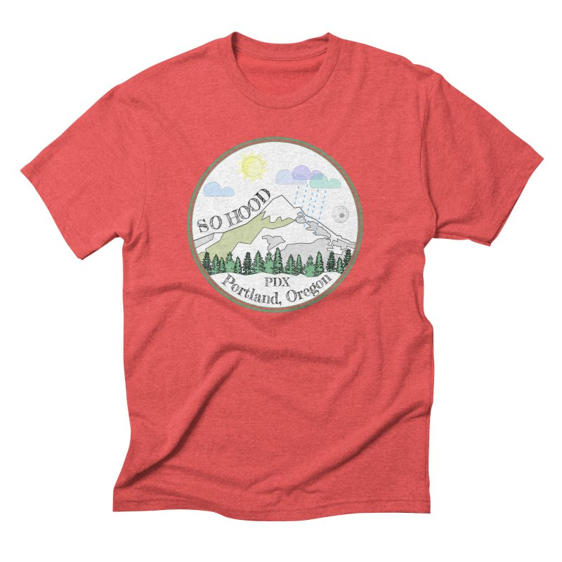 Mt. Hood [white background, works on all colors] Men's Triblend T-Shirt by Northern Limit