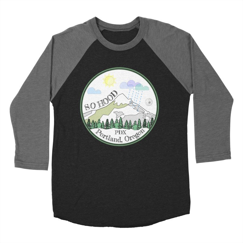 Mt. Hood [white background, works on all colors] Women's Baseball Triblend Longsleeve T-Shirt by Northern Limit