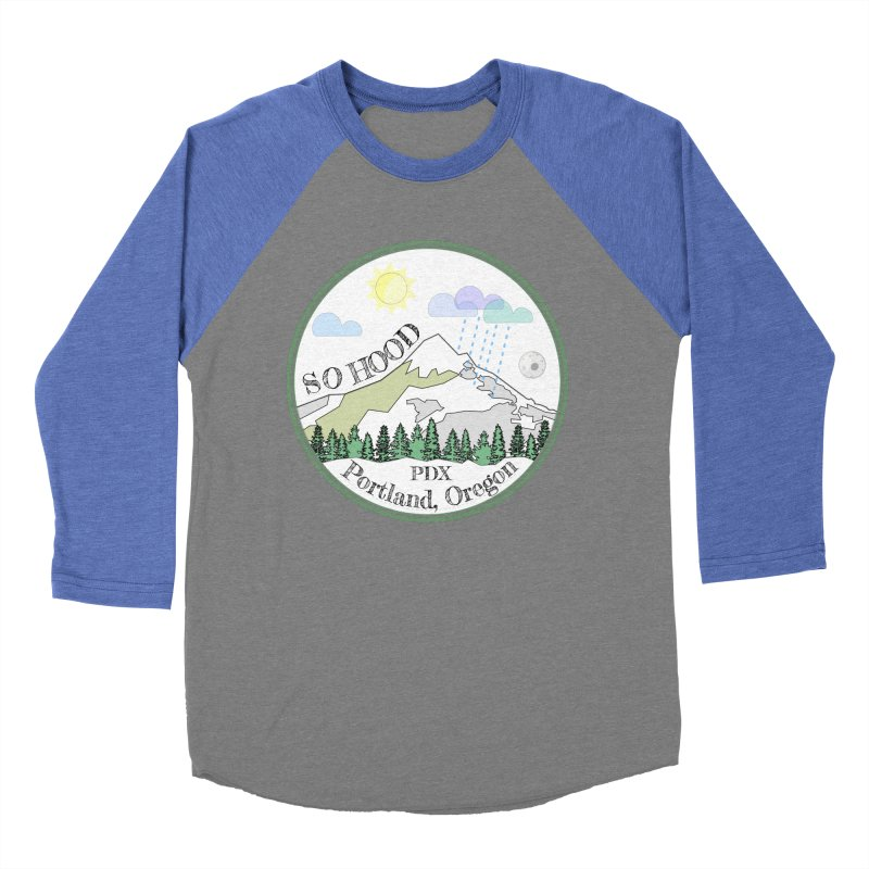 Mt. Hood [white background, works on all colors] Men's Baseball Triblend T-Shirt by Northern Limit