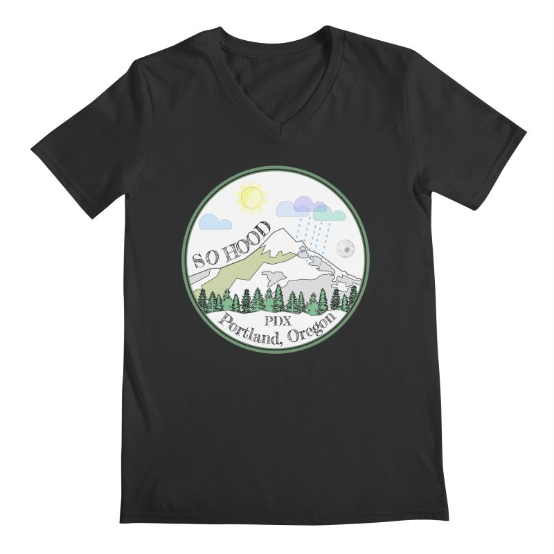 Mt. Hood [white background, works on all colors] Men's Regular V-Neck by Northern Limit