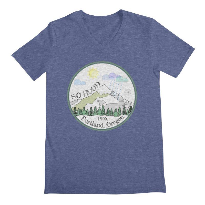 Mt. Hood [white background, works on all colors] Men's Regular V-Neck by Northern Limit